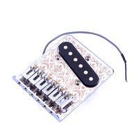 Wholesale NEW Electric Guitar Bridge TL Single Pickup bridge Flate Style Roller Saddle for Telecaster Guitar Chrome