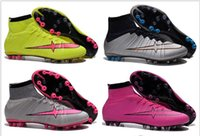 Wholesale Cheap Men Football Shoes Mercurial Superfly AG CR7 Cheap Soccer Shoes Trainers Authentic Football Boots Men s Original Outdoor Cle