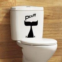 Wholesale Cute toilet decor stickers creative decorative removable bathroom waterproof pieces