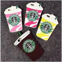 apple tea bags - New Arrivals Coffee Milk Tea Cup Bottle Cartoon Cover Case for iPhone s Plus s High Quality Silicone Protective Shell Bag