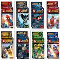Wholesale toys unisex Superheroes building blocks assembled toys children educational toys SY180 Boys girls Toys Gifts Action Figures hot sell