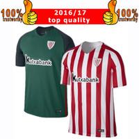 athletic bilbao away jersey - 2017 Athletic Bilbao Soccer jerseys Bilbao Home Red Away Green SUSAETA GURPEGUI MUNIAIN Maillot Thai Quality Football shirts