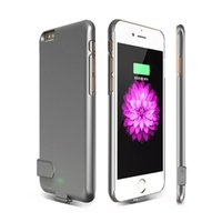 Wholesale Cell Phone Charger Case Wholesale - Power case for iPhone 7 7S 6 6s plus Emergency external rechargeable cell phone portable power charger bank battery case cover