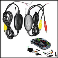 Wholesale by DHL or EMS pieces Ghz Wireless Video Transmitter and Receiver for Car Rear View Camera and Car DVD