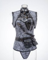 armor corset - 686 European and American punk style palace corset reinforced armor girly