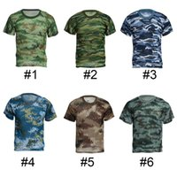 Wholesale Jungle T shirt Round Neck Short Sleeve T shirt Tactical Military T shirt Unisex Military Training For Students A17027690