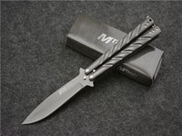 best survival guns - Twist the butterfly knife titanium plated gun knife Portable is suing gear Survival knife best Blade hiking Camping Rescue