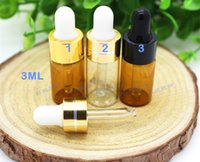 Wholesale 100pc ML ML Amber Clear Glass Dropper Bottle Jars Vials With Pipette For Cosmetic Perfume Essential Oil Bottles PD021
