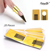 Wholesale FairyGlo Nail Forms Tips Acrylic Gel Extension Sticker Professional Nail Polish Curl Formes Nail Art Guide Form