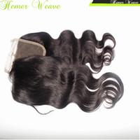 al por mayor la textura del pelo malasio-El pelo humano más barato de Clousre de 7A de la Virgen Cuerpo suizo del cordón del pelo humano, derecho, texturas profundas Teñible
