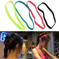 Wholesale Women Men yoga hair bands Sports Headband Anti slip Elastic Rubber Sweatband Football Yoga Running biking