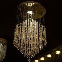 Wholesale Promotion sale new lustre crystal modern chandelier LED bulb lighting D25 H59cm staircase chandelier home lighting