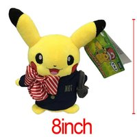 baby airline - Retail cm Pikachu Cosplay airline stewardess Stuffed Animals Plush Toys Cartoon Movies TV Pocket center Stuffed Dolls new Baby NRT