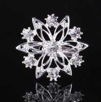 Wholesale 2016 Hot High Grade Fashion Brooches Little Snowflake Crystal Shiny Chain Scarves Buckle Fashion cm g Bridal Accessories Cheap