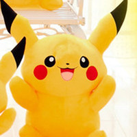animal soft toys - Pikachu Plush dolls cm inch Poke plush toys cartoon poke Stuffed animals toys soft Christmas toys best Gifts