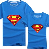 Wholesale Superman Super Mario T Shirt O Neck Short Sleeve Fashion Couple T Shirt Men Women Cartoon t shirt colors S XXXL cotton tees