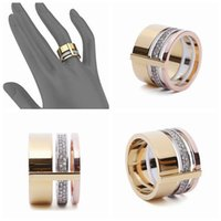 Wholesale Hot Sale Classic Rounds K Platinum Yellow Gold Plated Fashion Designer Brand Rings Gothic Jewelry For Women and Men Party Finger Ring