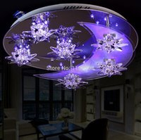 Wholesale 2016 Sitting room LED crystal ceiling light modern round art bedroom restaurant lighting LED lamparas de techo w remote control