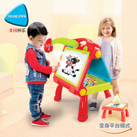 Wholesale New Arrival Sketchpad Magnetic Writing Board Multifunctional Projection Painting Desk Graffiti Color Board Package education toy
