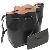 big cowhide leather - 2016 brand Moldbaby purses handbags Real cowhide bags for women handbag Bucket bag handbags designers drawnstring Big bag KB
