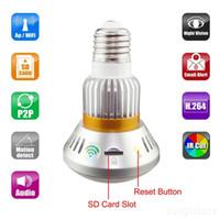 EazzyDV BC-883 Bulb WiFi / AP HD960P Caméra réseau IP P2P avec contrôle de la lumière réelle par support de contrôle à distance Carte mémoire 32G
