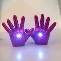 high quality gloves - The Avengers Iron Man Gauntlet Glove LED Light Left Right Hand New High Quality