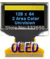 Wholesale inch OLED Display screen with x64 Resolution Blue and yellow color on black SPI Parallel and I2C IIC Interface