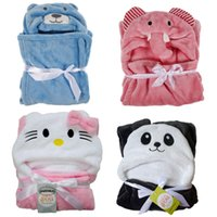 Wholesale Super Soft Animal Cartoon Hooded flannel Bath Towels For Babies Infant Cute Towels Blankets best gift