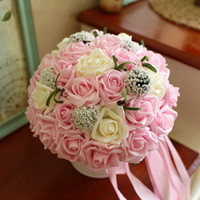 Wholesale Cheap Wedding Accessories Bridal Bouquet Pink Red Purple Artificial Wedding Flowers Buque De Noiva High Quality