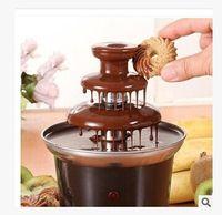 Wholesale Creative Chocolate Fountains household mini three layer of chocolate fountain machine chocolate homemade melting tower with heating v