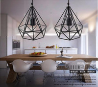 art bart - 2016 Art Deco Vintage pendant lights LED lamp metal cube cage lampshade lighting hanging light fixture for ktv Bart Art Lights
