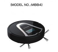 Wholesale Eworld M884 Smart Dry Robot Vacuum Cleaner Wet and Dry Clean MOP Dust Tank HEPA Filter Self Charge ROBOT Carpet Sweeper Black