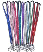 Wholesale New Bling Rhinestone Neck Strap Lanyard rope ID Neck Strap Lanyard ID Pass Card Badge Key Mobile Phone camera Holder Straps necklace charms