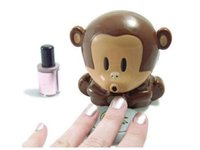 air blower design - Nail Art Dryer Air Quick Blower Mini Cute Monkey Design Fingernails Polish Tips For DIY Machine Manicure Care Tools