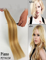 Wholesale Human Hair Extensions Adhesive Skin Weft Hair Extensions In Invisible Hair