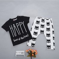 bats trade - 2016 INS explosion models summer cotton bat suit baby clothes suit foreign trade children s clothing for boys and girls