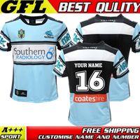 australia jersey rugby - Size S XXXL TOP Thai quality New Cronulla Sharks rugby jerseys Zealand best Australia league rugby jerseys shirts