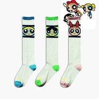 best athletic socks - Best selling The Powerpuff Girls long Football Socks Women New Unisex Soccer Baseball Football Basketball Men Sport Socks Long Stocking