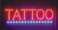 Wholesale 2016 hot sale flashing Tattoo store usage display high brightness LED lighting board led billboards