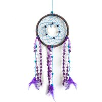 apartment plants - New Chic Feathers Dream Catcher Circular Net Wall Hanging Decoration Car Ornament Decorate For Home House Apartment Gift