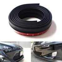 Cheap Universal Rubber PU Front Bumper Lip Splitter Chin Spoiler Body Kit Trim 2.0 Meters Matte Black Car Styling Accessories