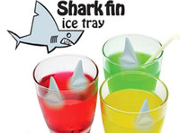 Wholesale Shark Ice Mold - Shark Fin Shape Ice Mold Cube Tray Silicone Ice Mold with Making 5 Fins 1 Time for Summer Funny Drinking