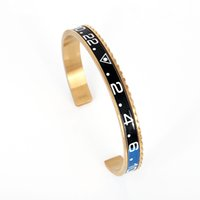 Wholesale 2016 Custom Color Newest Fashion Gold l Stainless Steel Speedometer Charm Cuff Bangle Bracelet Jewelry