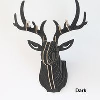 animal head wall decoration - Crazy D DIY Wooden Puzzle Animal Head Jigsaw Wooden Craft for Home Decoration Wall Hanging Reindeer Head deer