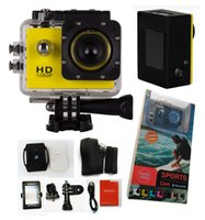 Wholesale 1 inch SJ4000 Action Video Cameras Full HD P Helmet Mount Sports Car DVR Recorder Camcorder PC Camera Waterproof