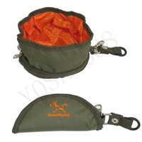 Wholesale Foldable Pet Travel Camping Foldable Food Water Feeder Bowl Dish For Dog Cat Oxford Fabric Dogs Cats Feeder