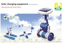 Wholesale Six kinds of games are played the third generation solar toys educational science toys DIY ROBOT solar changing equipment
