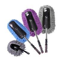 Wholesale The car clean car washing mop dust sweep long handle telescopic wax polishing wax sweep