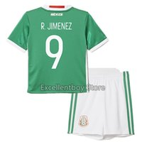Wholesale 2016 mexico jersey for kids football kits chicharito mexico jersey Javier Hernandez Jose Guardado Home Green