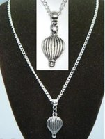 airship balloon - 18 quot Chain Necklace Hot Air Balloon Pendant Flight Airship Aircraft Free organza bags gift